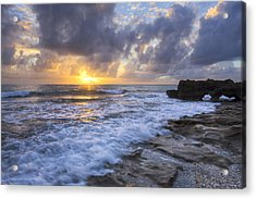 Morning Rush Acrylic Print by Debra and Dave Vanderlaan