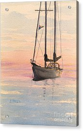 Morning Acrylic Print by Sandy Linden