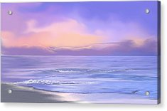 Acrylic Print featuring the digital art Morning Sea Breeze by Anthony Fishburne