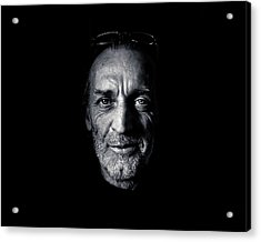 Morning Self Portrait In Black And White Acrylic Print