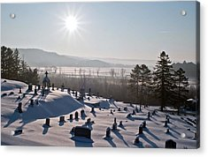 Morning Shadows In The Graveyard Acrylic Print