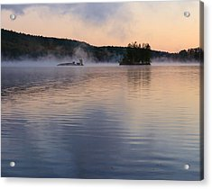 Acrylic Print featuring the photograph Morning Smoke by Paul Noble