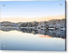 Morning Snowfall Acrylic Print by Susan Leggett