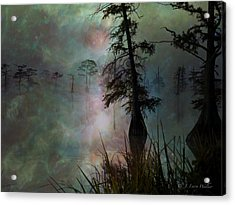Acrylic Print featuring the digital art Morning Solitude by J Larry Walker