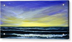 Morning Star And The Sea Oceanscape Acrylic Print