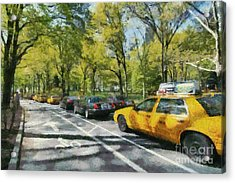 Morning Traffic Through Central Park Acrylic Print
