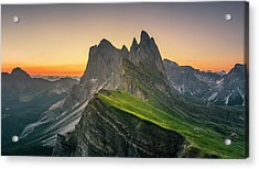Morning Twilight At Secede, Italy Acrylic Print by Chalermkiat Seedokmai