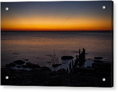 Morning Water Colors Acrylic Print by CJ Schmit