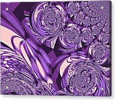 Moroccan Lights - Purple Acrylic Print by Absinthe Art By Michelle LeAnn Scott