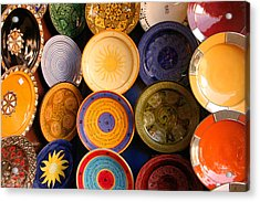 Moroccan Pottery On Display For Sale Acrylic Print by PIXELS  XPOSED Ralph A Ledergerber Photography