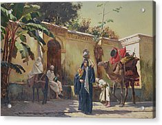 Moroccan Scene Acrylic Print by Rudolphe Ernst