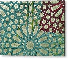 Moroccan Tile Design Acrylic Print by Karim Baziou