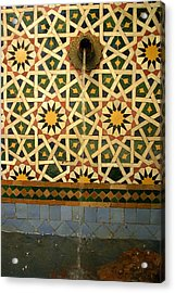 Moroccan Water Fountain Acrylic Print by Ralph A  Ledergerber-Photography
