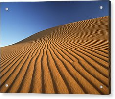 Morocco, Detail Of Sand Dune At Dawn Acrylic Print by Ian Cumming