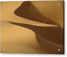 Morocco, Detail Of Sand Dunes At Dawn Acrylic Print by Ian Cumming