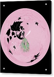 Morphed Art Globe 10 Acrylic Print by Rhonda Barrett