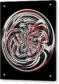 Morphed Art Globe 15 Acrylic Print by Rhonda Barrett