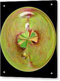 Morphed Art Globe 21 Acrylic Print by Rhonda Barrett