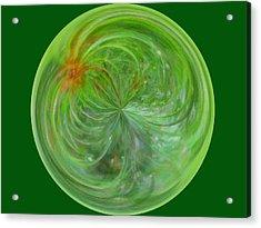 Morphed Art Globe 5 Acrylic Print by Rhonda Barrett