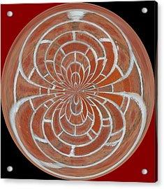 Morphed Art Globes 17 Acrylic Print by Rhonda Barrett