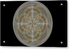 Morphed Art Globes 25 Acrylic Print by Rhonda Barrett