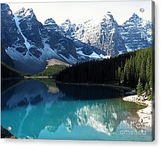 Acrylic Print featuring the photograph Moraine Lake by Gerry Bates