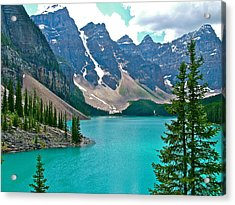 Morraine Lake In Banff Np-alberta Acrylic Print