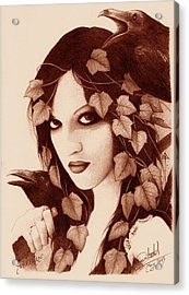 Morrigan Acrylic Print by Yuri Leitch