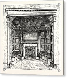 Morris And Co., Chimney Piece In The Ambassadors Room Acrylic Print by English School
