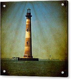 Morris Island Light Color Vintage Acrylic Print