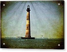 Morris Island Light Vintage Color Uncropped Acrylic Print