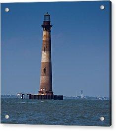 Morris Island Light With Sullivan's Acrylic Print