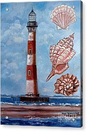 Morris Island Lighthouse Acrylic Print by Julie Brugh Riffey
