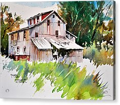 Morrison Mill Burnt Prairie Illinois Acrylic Print by Spencer Meagher