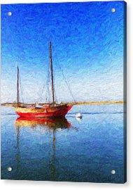 Morro Bay Blue Acrylic Print