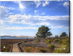 Morro Bay Boardwalk Acrylic Print