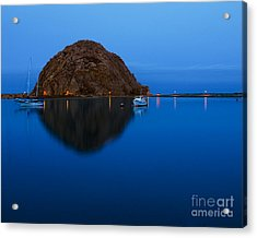 Morro Bay Calm Morning Acrylic Print by Terry Garvin