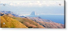 Morro Bay Rock Vista Overlooking Highway 46 Paso Robles California Acrylic Print by Artist and Photographer Laura Wrede