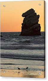 Morro Beach Sunset Acrylic Print by Terry Garvin