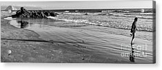 Morro Beach Walk Acrylic Print by Terry Garvin