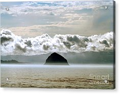 Acrylic Print featuring the photograph Morro Rock Morning by Michael Rock