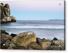 Morro Rock Morning Acrylic Print by Terry Garvin