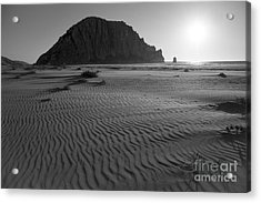 Morro Rock Silhouette Acrylic Print by Terry Garvin