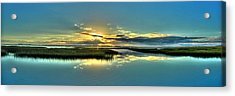 Acrylic Print featuring the photograph Morse Park Landing Sunrise by Ed Roberts