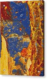 Mortal Bleu Flambe Acrylic Print