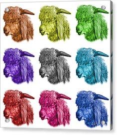 Mosaic Angora Goat - 0073 F - M - Wb Acrylic Print