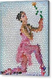 Mosaic Ballerina Acrylic Print by Nina Bradica