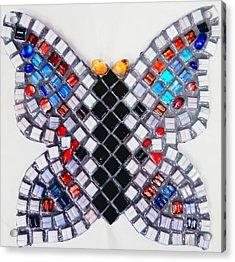 Mosaic Butterfly Acrylic Print by Lisa Brandel