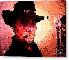 Mosaic Cowboy Acrylic Print
