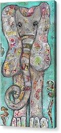 Mosaic Elephant Acrylic Print